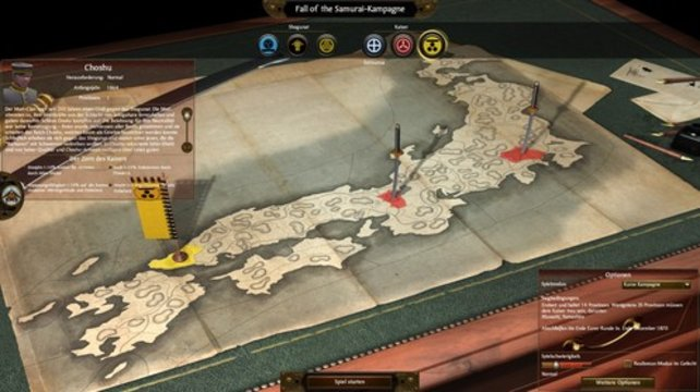 Als Anführer eines Clans erobert ihr Japan (Total War - Shogun 2).