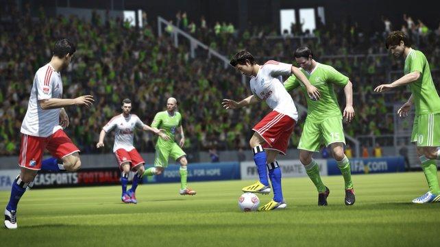 In Fifa 14 gibt es natürlich wieder offiziell lizenzierte Spieler, Mannschaften und Stadien.