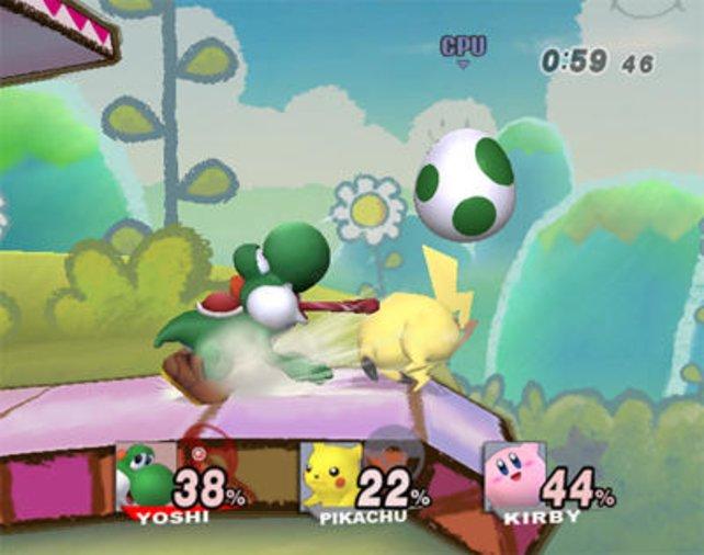 Die Nintendo-Prominenz kloppt sich in Super Smash Bros. Brawl.