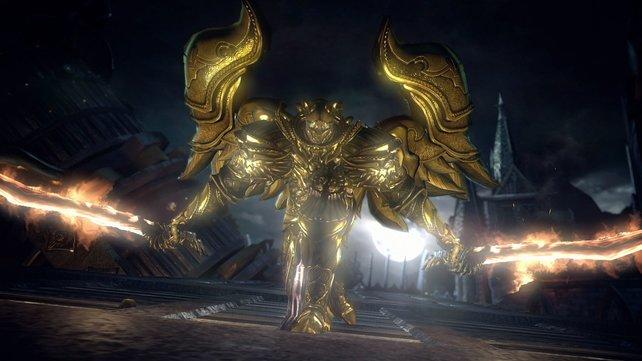 Der Paladin in goldener Engelsrüstung erweist sich als hartnäckiger Gegner.