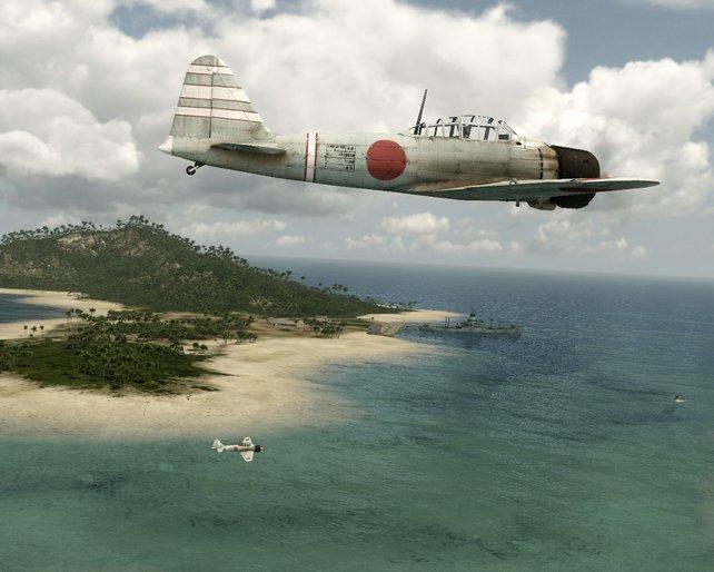 Die Japaner auf dem Weg nach Pearl Harbor.