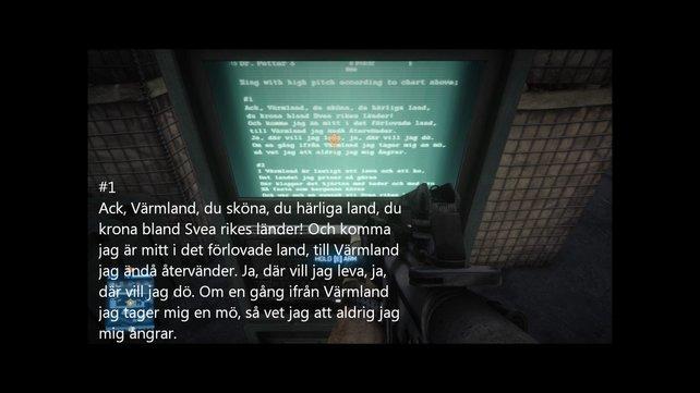 """Der Text des schwedischen Liedes """"Värmlandsvisan"""" ist im Mehrspieler-Modus von BF3 versteckt."""