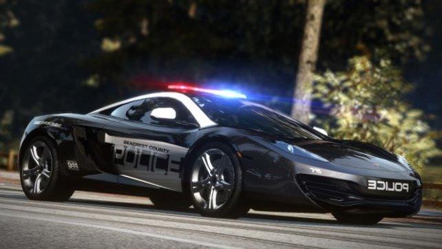 Ihr dürft diesmal auch in Polizeiautos einsteigen, aber in der Wii-Version nicht im Karriere-Modus.
