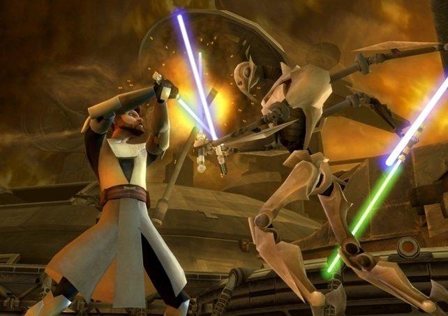 """Gut in Szene gesetzt: Alle wichtigen Figuren aus """"Clone Wars"""" tauchen auch im Spiel auf"""