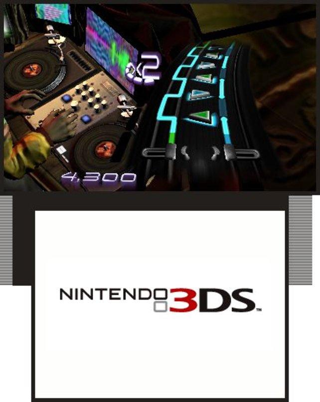 Selbst Musikspiele wie DJ Hero lassen sich den 3DS-Auftritt nicht nehmen.