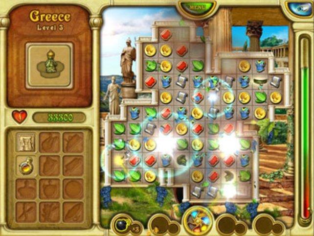 Hier verschwinden mehrere gleiche Objekte aus dem Spiel.