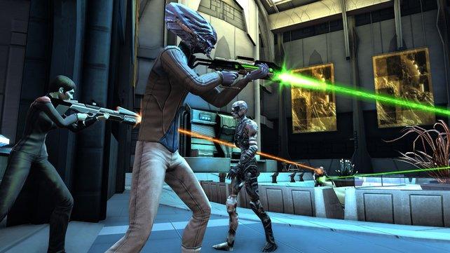 Im Kampf gegen die Borg benötigt ihr viel Feuerkraft.