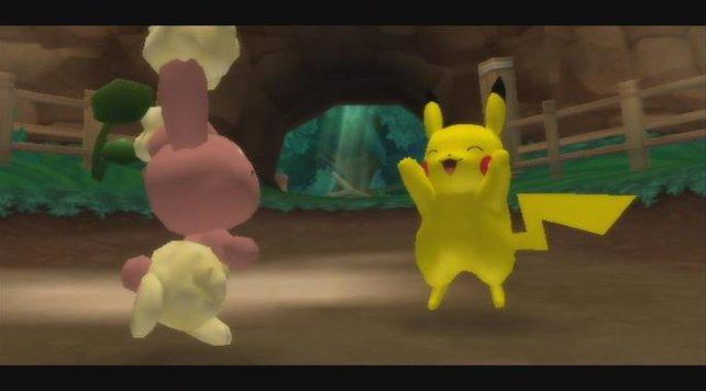 Pikachu ist trotz drohender Gefahr immer gut drauf.