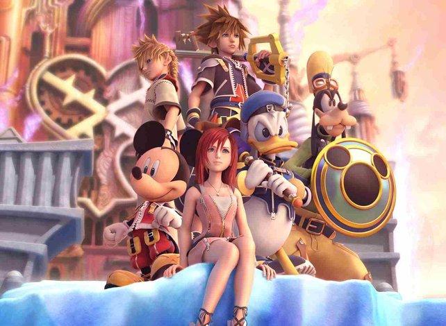 So könnte Musik aussehen, wenn sie ein Bild wäre. Die Helden von Kingdom Hearts 2.