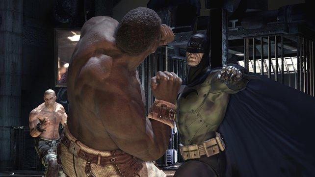 So lange keine Waffen im Spiel sind, kommt Batman auch mit mehreren Gegnern prima klar.