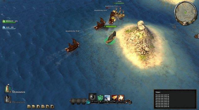 Der Spieler-gegen-Umgebungs-Bereich ist keine Ruhezone. Es warten Gegner, die teilweisen in Gruppen auf euch losgehen.