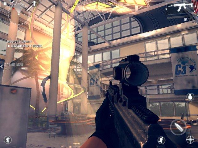 Immer wieder protzt das Spiel mit schicken Licht- oder Raucheffekten.