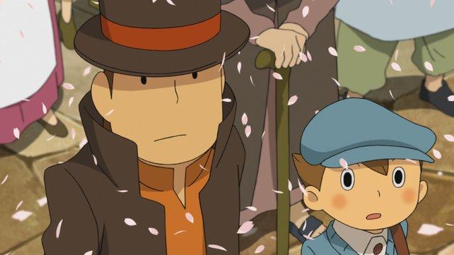 Professor Layton und Assistent Luke finden sich in der geheimnisvollen Stadt Labyrinthia wieder.