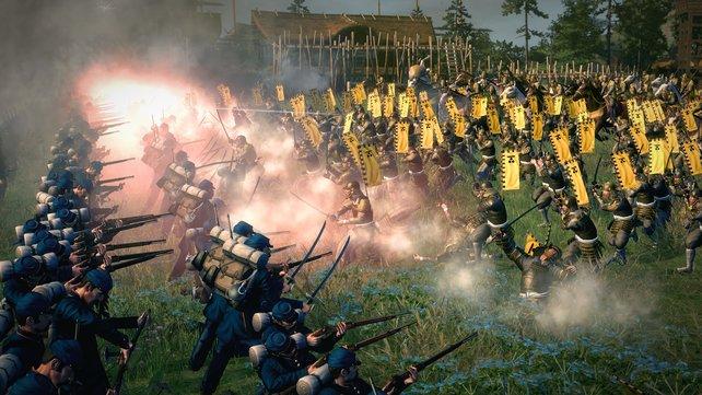 Samurais haben keine Chance gegen Repetiergewehrschützen.