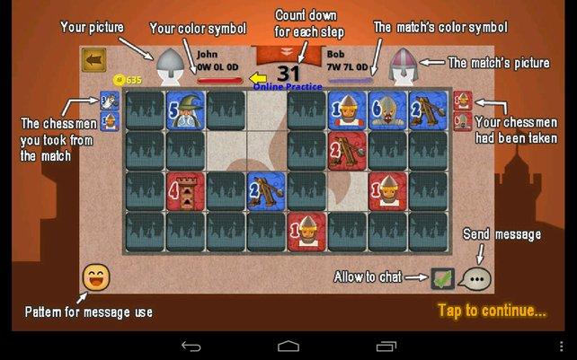Knight Chess könnt ihr auch online gegen andere Spieler zocken.