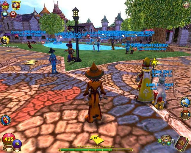 Gut besucht ist der Kampus der hiesigen Zauberschule.