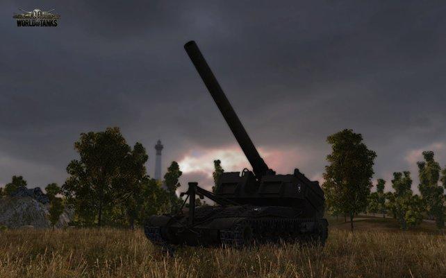 Nicht nur die Panzer, auch die Umgebung gestaltet sich sehr detailliert.