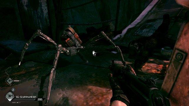 Solche Spinnenroboter dürft ihr euch selbst zusammen basteln. Hilfreiche Metallfreunde.