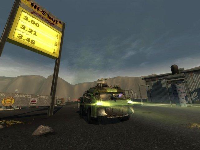 Mutant an der Tankstelle