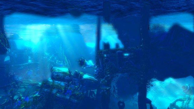 Auch unter Wasser findet ihr versteckte Erfahrungspunkte.