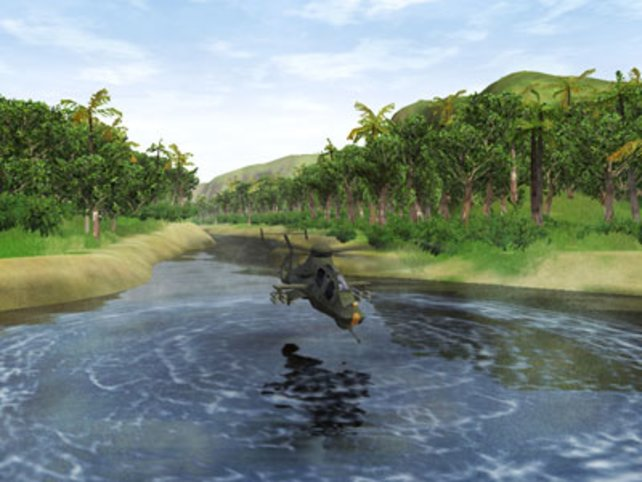 Sehr realistisch: konzentrische Kreise auf dem Wasser