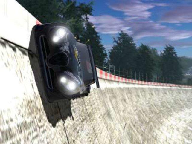 Mit Höchstgeschwindikeit durch die Kurve