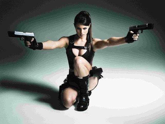 Für öffentliche Auftritte nutzt Hersteller Eidos echte Models - im Bild Alison Carroll.