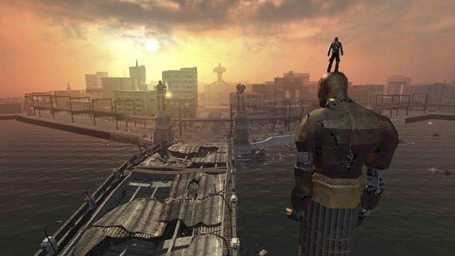 Toller Blick auf Empire City.