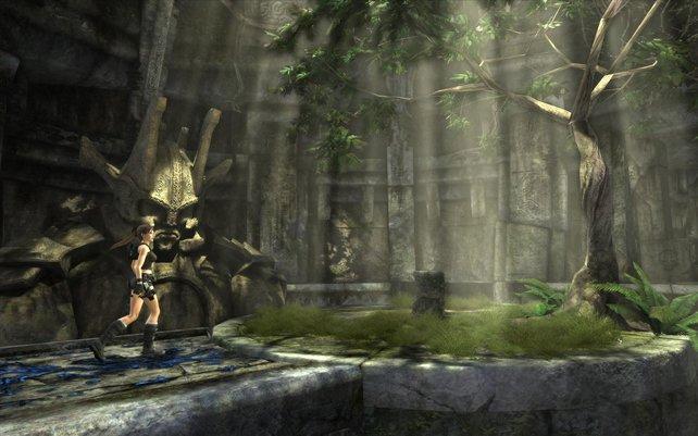 Das Podest offenbart eine interessante Nachricht für Lara.