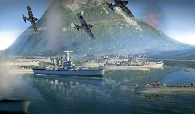 Bei den Midwayinseln im Pazifik greifen euch Japaner an.