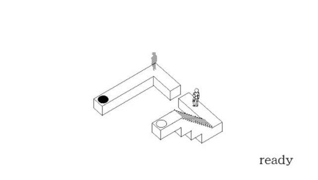 Dreht die Plattform so, dass das weiße Springpad die scheinbar unerreichbare Plattform erreicht.