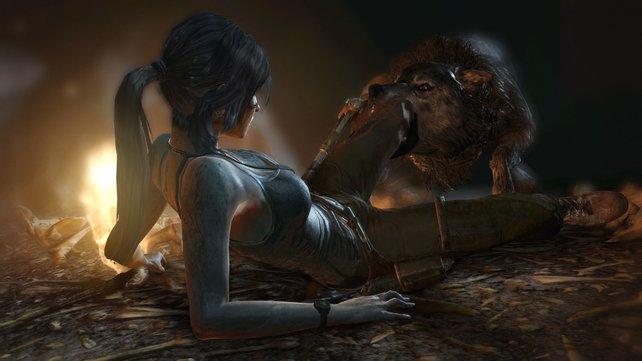 Lara Croft entwickelt sich in Tomb Raider zur taffen Überlebenskünstlerin.