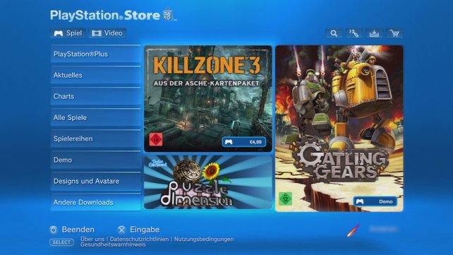 Der Playstation Store bietet ebenso wöchentliche Angebote.