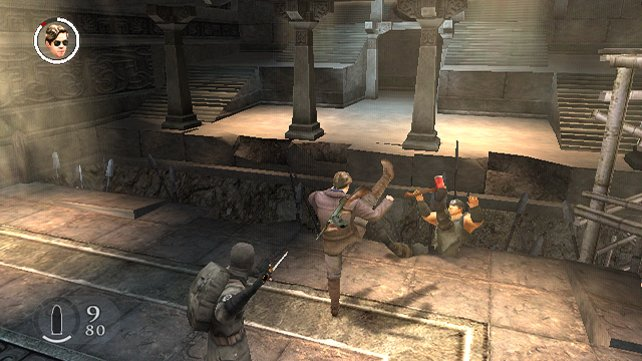Im Kampf: Gerade wird ein Gegner weggetreten, da steht schon jemand mit Schusswaffe hinter euch...
