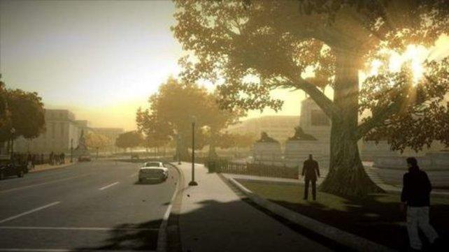 Wie leergefegt: Früh morgens könnt ihr euch noch auf die Straße trauen.