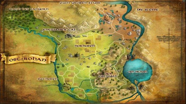 Die Karte zeigt eine Übersicht des Erweiterungs-Gebietes Ost-Rohan.