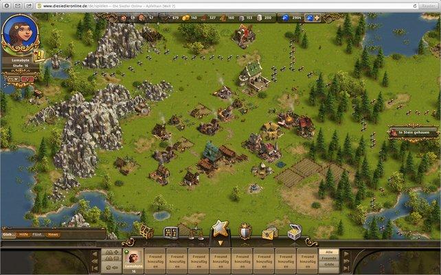 Im Laufe des Spiels erweitert ihr die Infrastruktur eurer Siedlung mit zahlreichen Gebäuden.