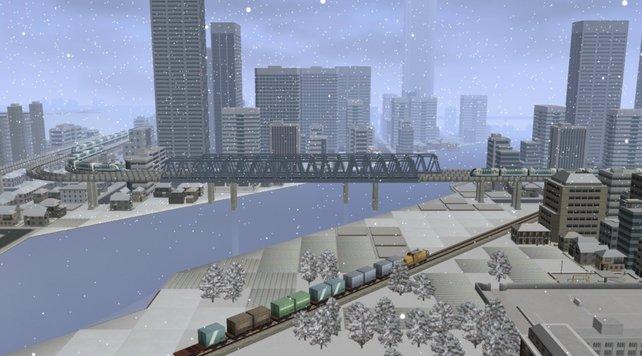 Es schneit im Spiel sehr oft, was den Grafikeindruck nicht gerade verbessert.
