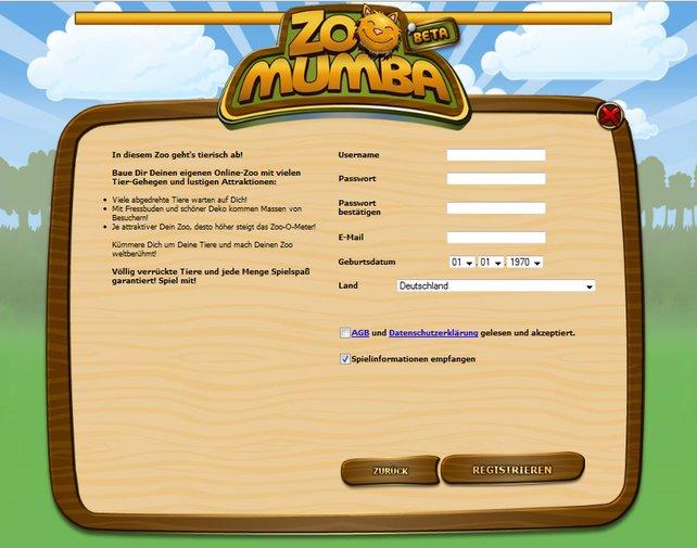 Die Anmeldung ist der erste Schritt zum neuen Leben als Zoodirektor.