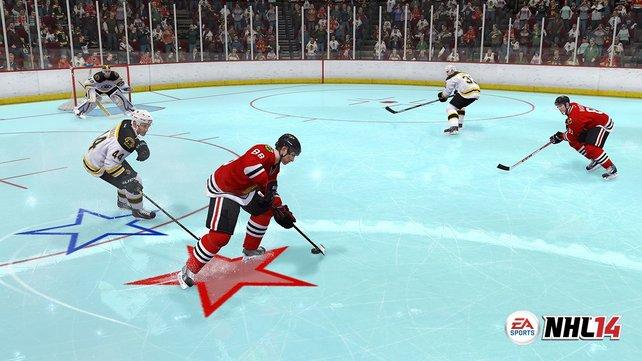 Sieht alt aus und lässt euch auch vielleicht alt aussehen: Der NHL-94-Geburtstagsmodus macht dank alter Steuerung viel Spaß.
