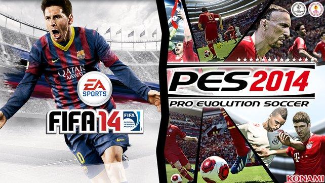 EA Sports schickt mit Fifa 14 das inzwischen 21. Fifa seiner Spieleserie ins Rennen. Konami veröffentlicht mit PES 2014 sein insgesamt 13. Spiel aus der PES-Reihe.