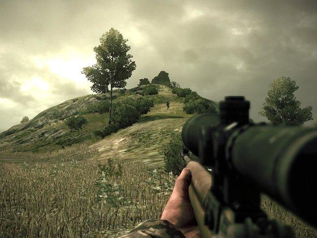 Erst schießen, dann freundlich winken. Es könnte ein Gegner sein. Oder ein Baum.
