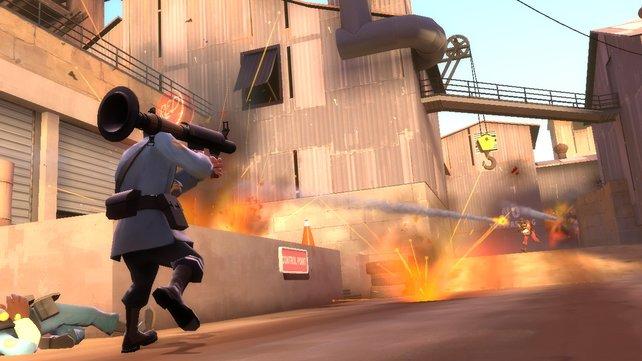 Heiße Mehrspielergefechte mit knallharter Action im Comiclook - das ist Team Fortress 2.