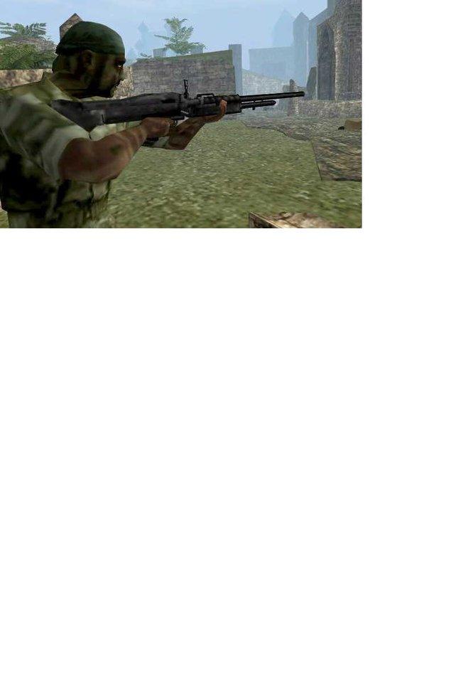 Gi-Soldat auf Zielsuche...