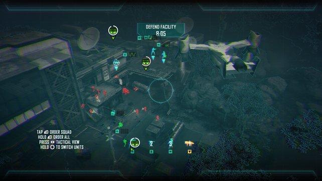 Die Taktikeinsätze bestreitet ihr mittels Kartenansicht oder aus Sicht der Einheiten.
