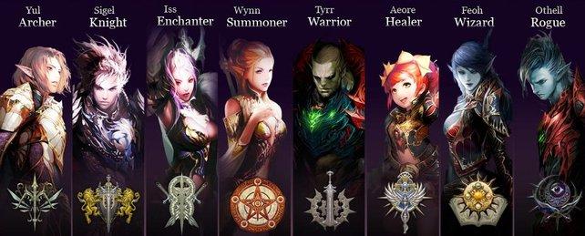Eine Übersicht der Klassen, die euch in Goddess of Destruction zur Verfügung stehen.