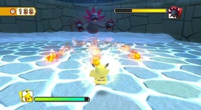 Passt auf, dass euch das Feuer des Trikephalo nicht den Hintern verbrennt.