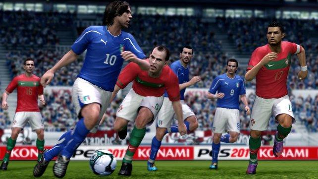 Spieler mit hohem Technikwert sind schwer vom Ball zu trennen.