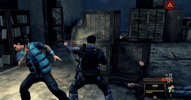Agent Thornton teilt im Nahangriff mit simplem Kampfsystem kräftig aus.