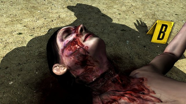 Am Tatort: Phelps beugt sich über die Leiche einer jungen Frau.